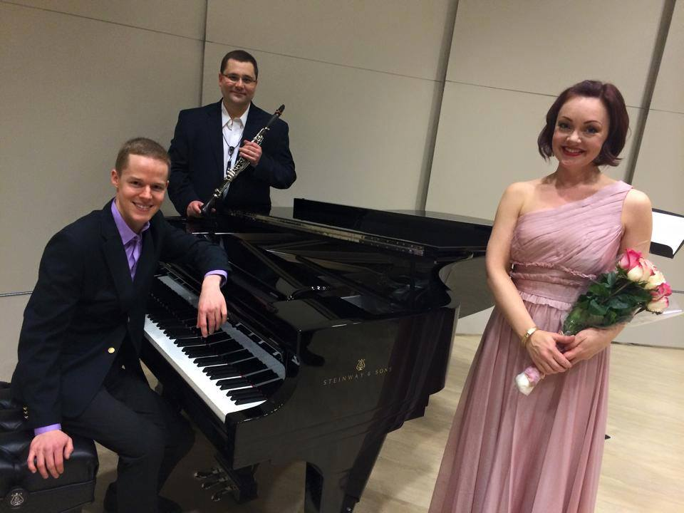 With Christi Amonson and Nathan Brandwein after our faculty/guest artist recital